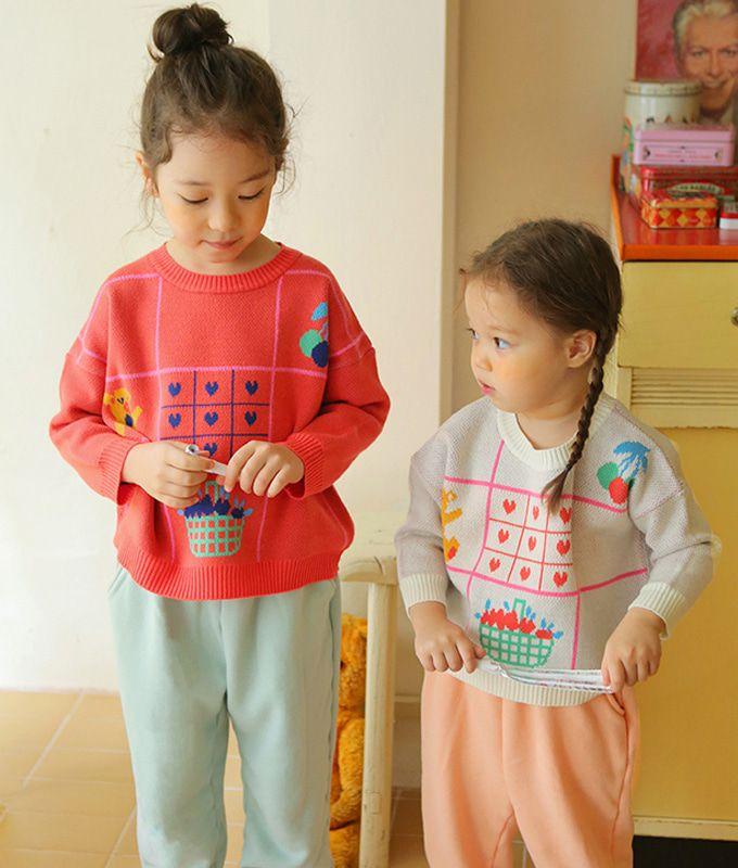 AMBER - BRAND - Korean Children Fashion - #Kfashion4kids - Roty Knit Pullover