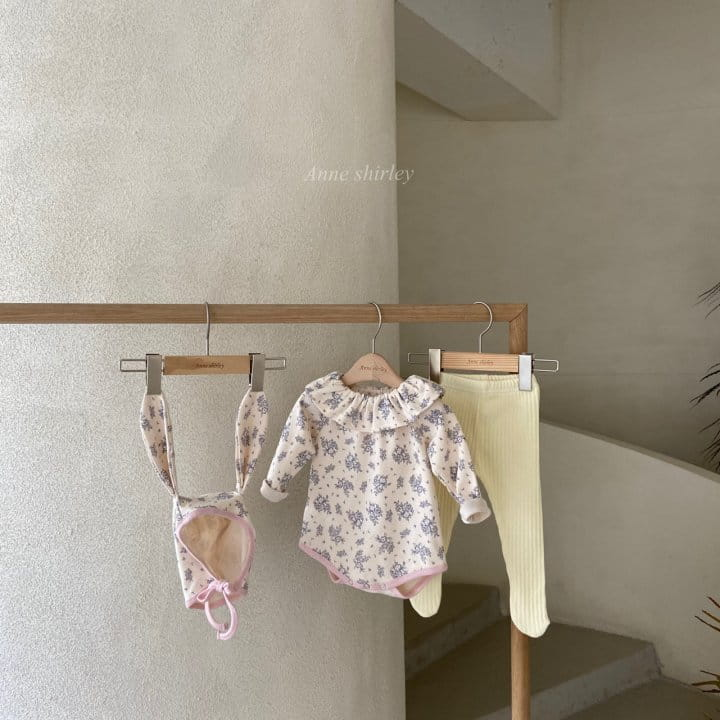 ANNE SHIRLEY - Korean Children Fashion - #Kfashion4kids - Romance Rabbit Bodysuit with Bonnet