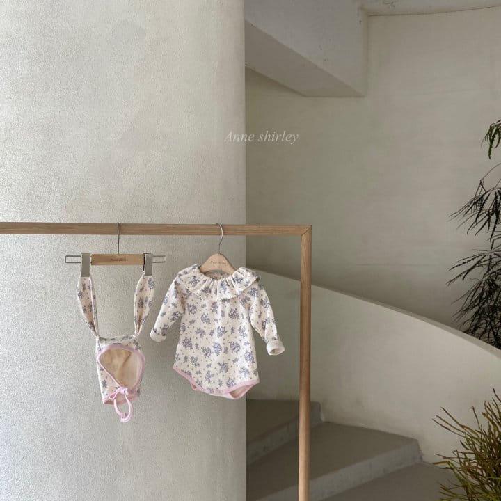 ANNE SHIRLEY - Korean Children Fashion - #Kfashion4kids - Romance Rabbit Bodysuit with Bonnet - 2