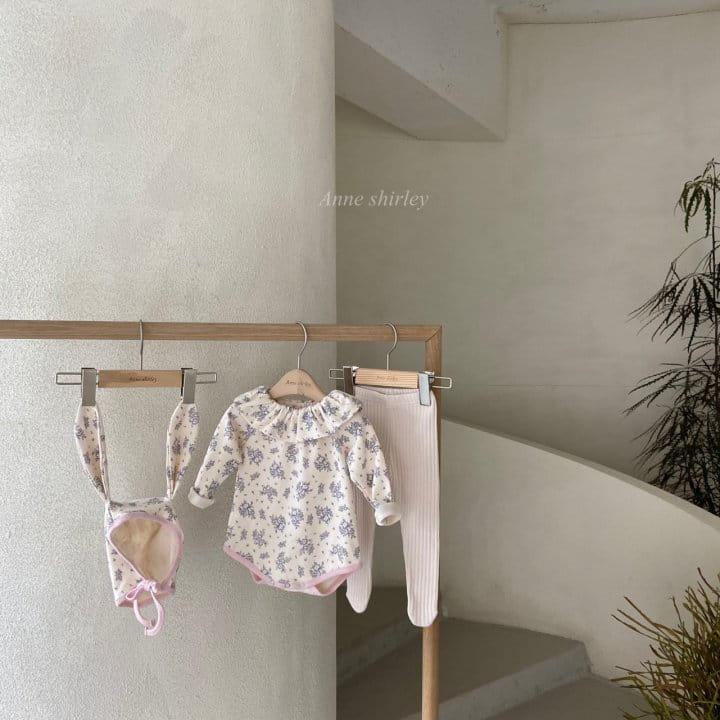 ANNE SHIRLEY - BRAND - Korean Children Fashion - #Kfashion4kids - Romance Rabbit Bodysuit with Bonnet