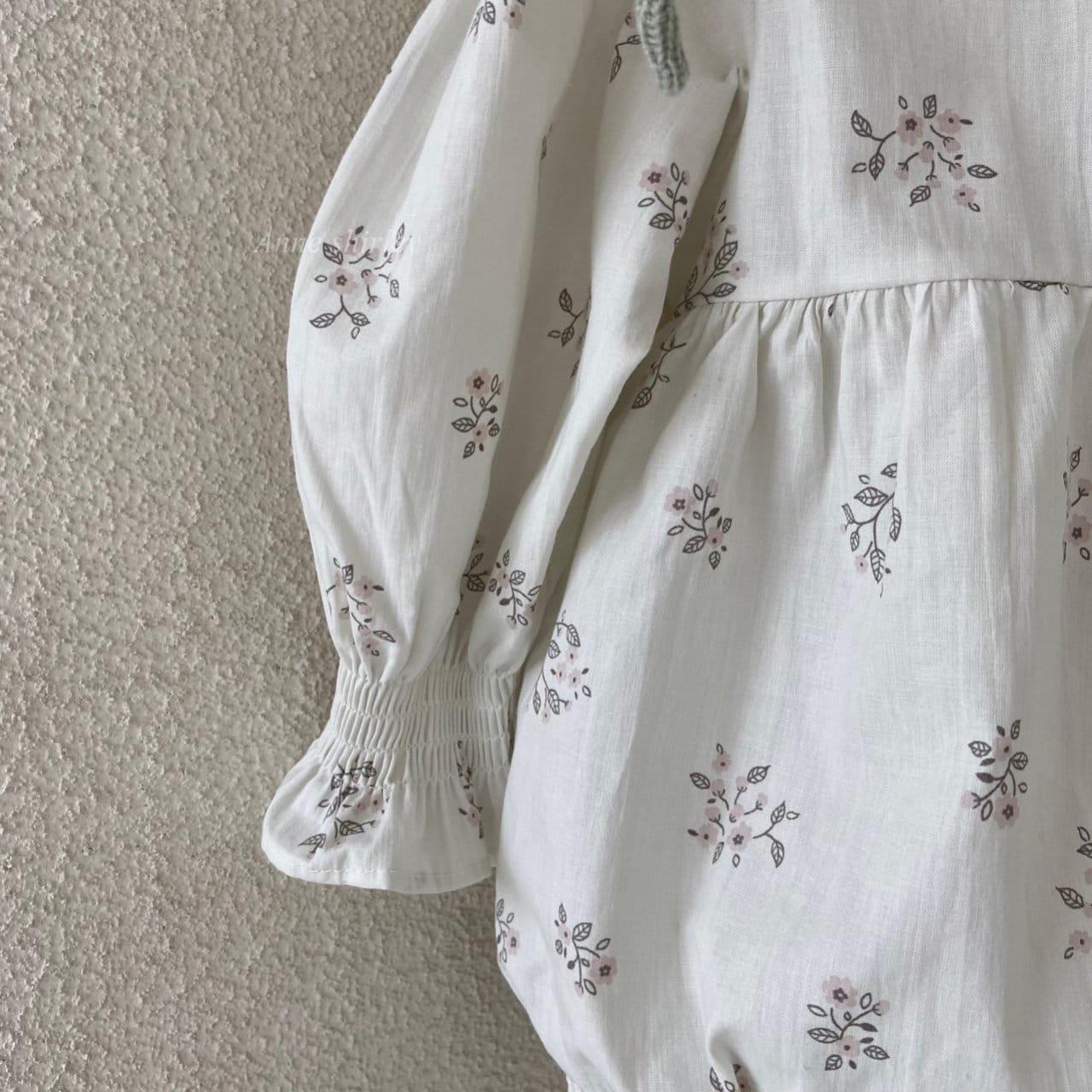 ANNE SHIRLEY - Korean Children Fashion - #Kfashion4kids - Ben Flower Bodysuit - 3