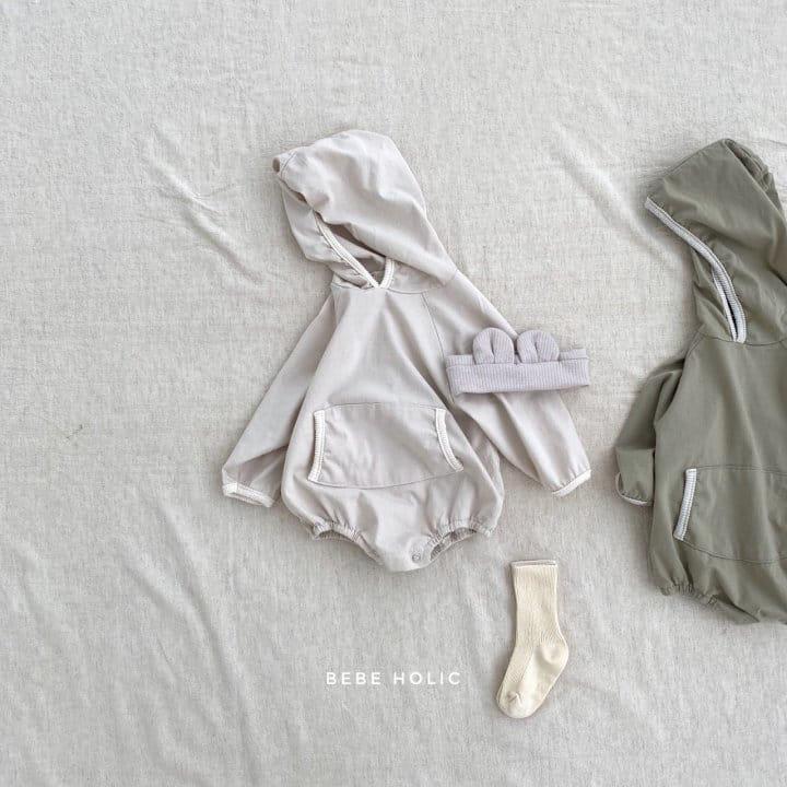 BEBE HOLIC - Korean Children Fashion - #Kfashion4kids - Kangaloo Hoody Bodysuit - 2