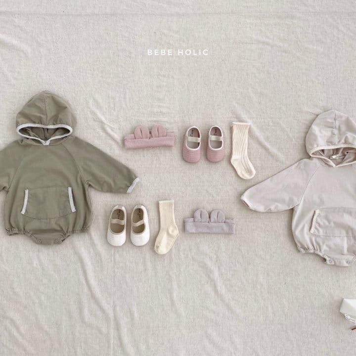 BEBE HOLIC - Korean Children Fashion - #Kfashion4kids - Kangaloo Hoody Bodysuit - 3