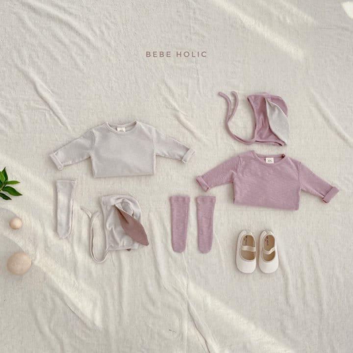BEBE HOLIC - Korean Children Fashion - #Kfashion4kids - Rabbit Bodysuit with Bonnet & Socks - 4