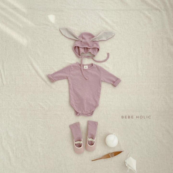 BEBE HOLIC - Korean Children Fashion - #Kfashion4kids - Rabbit Bodysuit with Bonnet & Socks - 6