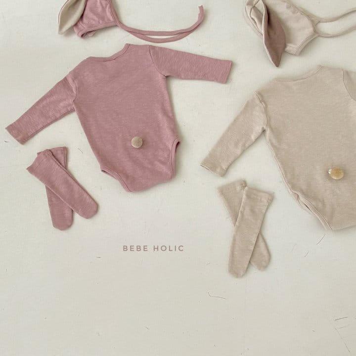 BEBE HOLIC - Korean Children Fashion - #Kfashion4kids - Rabbit Bodysuit with Bonnet & Socks - 7