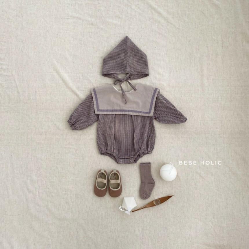 BEBE HOLIC - Korean Children Fashion - #Kfashion4kids - Candy Check Bodysuit with Bonnet - 3