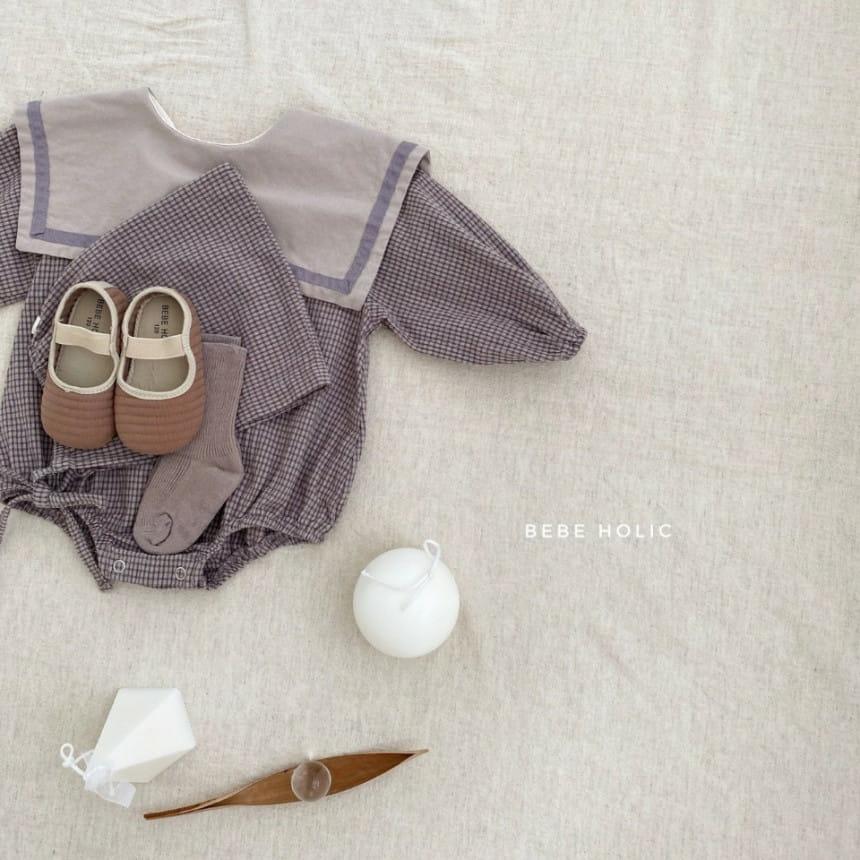 BEBE HOLIC - Korean Children Fashion - #Kfashion4kids - Candy Check Bodysuit with Bonnet - 4