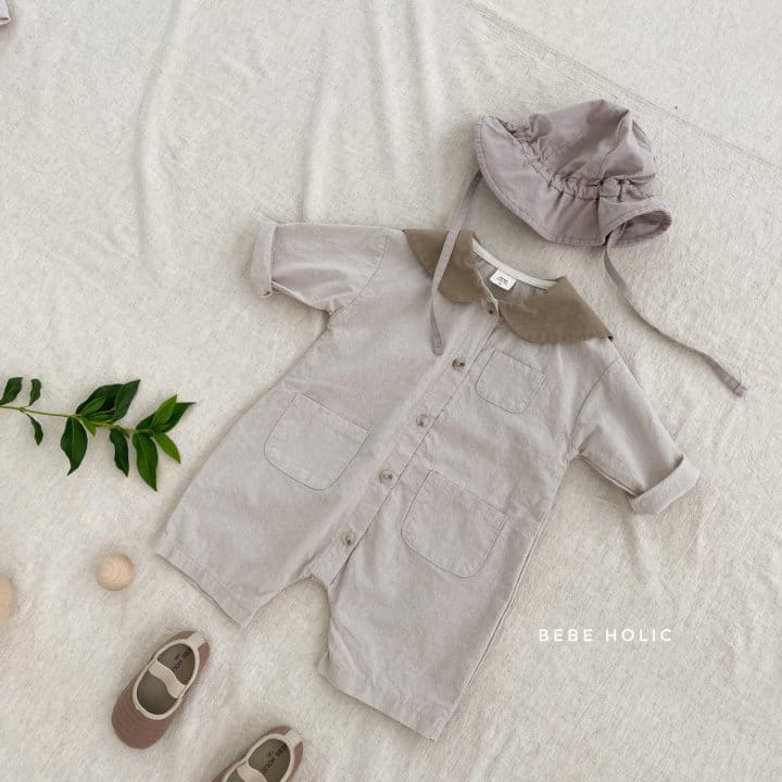 BEBE HOLIC - Korean Children Fashion - #Kfashion4kids - Flat Collar Bodysuit - 4