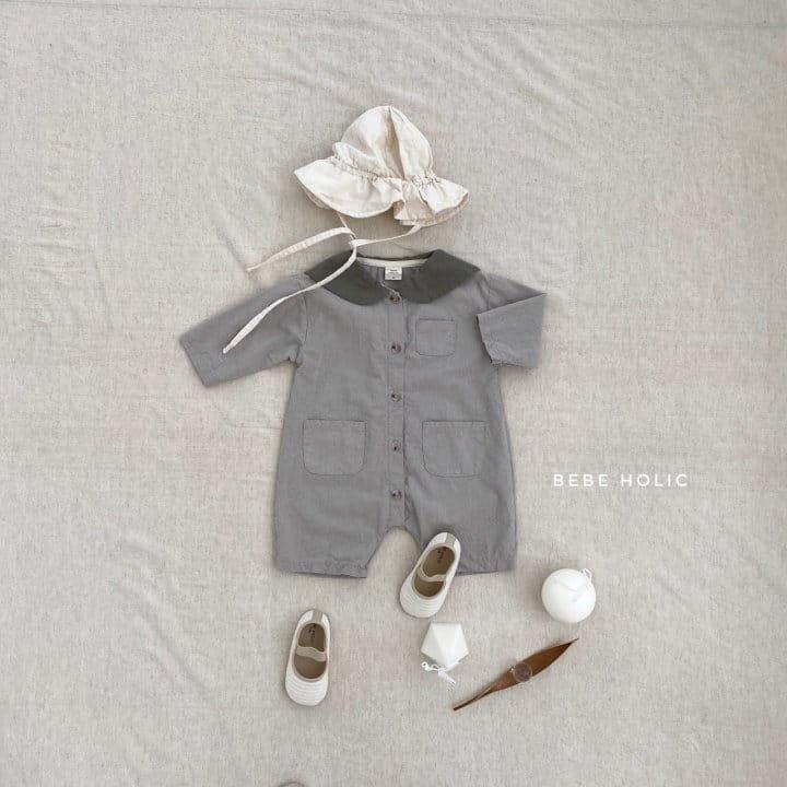 BEBE HOLIC - Korean Children Fashion - #Kfashion4kids - Flat Collar Bodysuit - 5