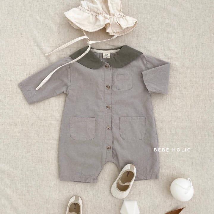 BEBE HOLIC - Korean Children Fashion - #Kfashion4kids - Flat Collar Bodysuit - 6