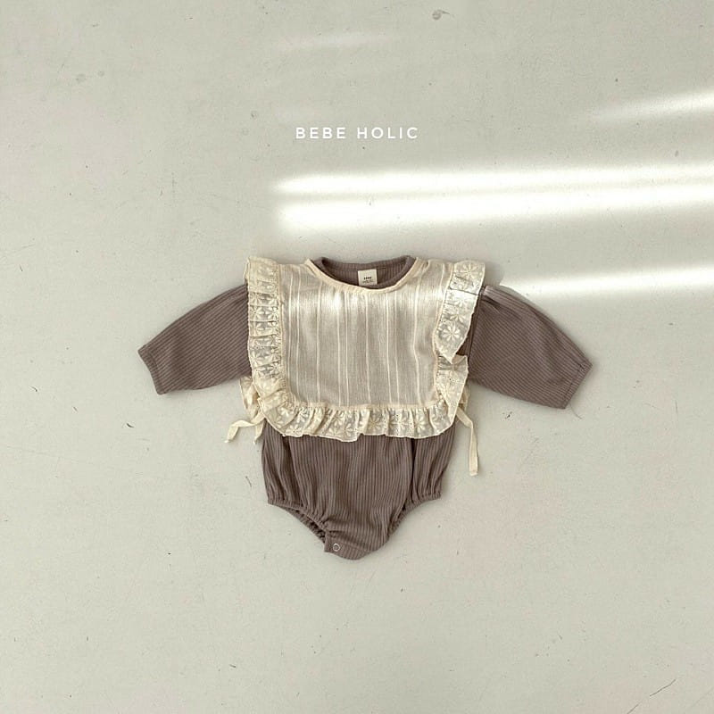 BEBE HOLIC - Korean Children Fashion - #Kfashion4kids - Shine Bodysuit with Bib