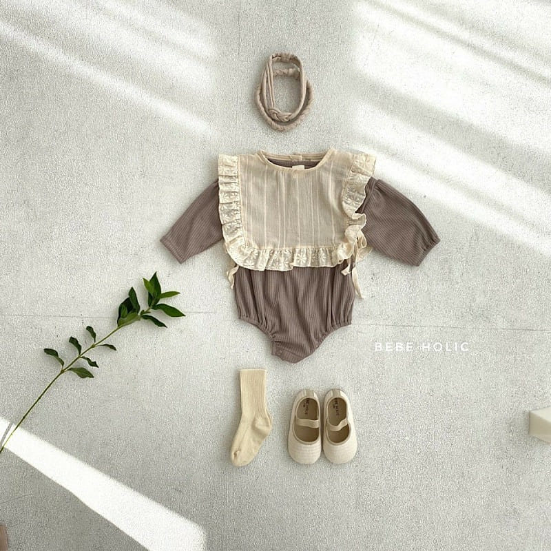 BEBE HOLIC - Korean Children Fashion - #Kfashion4kids - Shine Bodysuit with Bib - 5