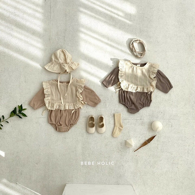 BEBE HOLIC - BRAND - Korean Children Fashion - #Kfashion4kids - Shine Bodysuit with Bib