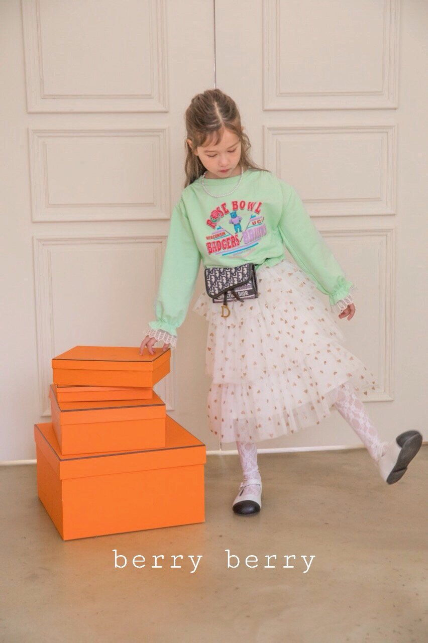BERRY BERRY - Korean Children Fashion - #Kfashion4kids - Rose Sweatshirt - 6