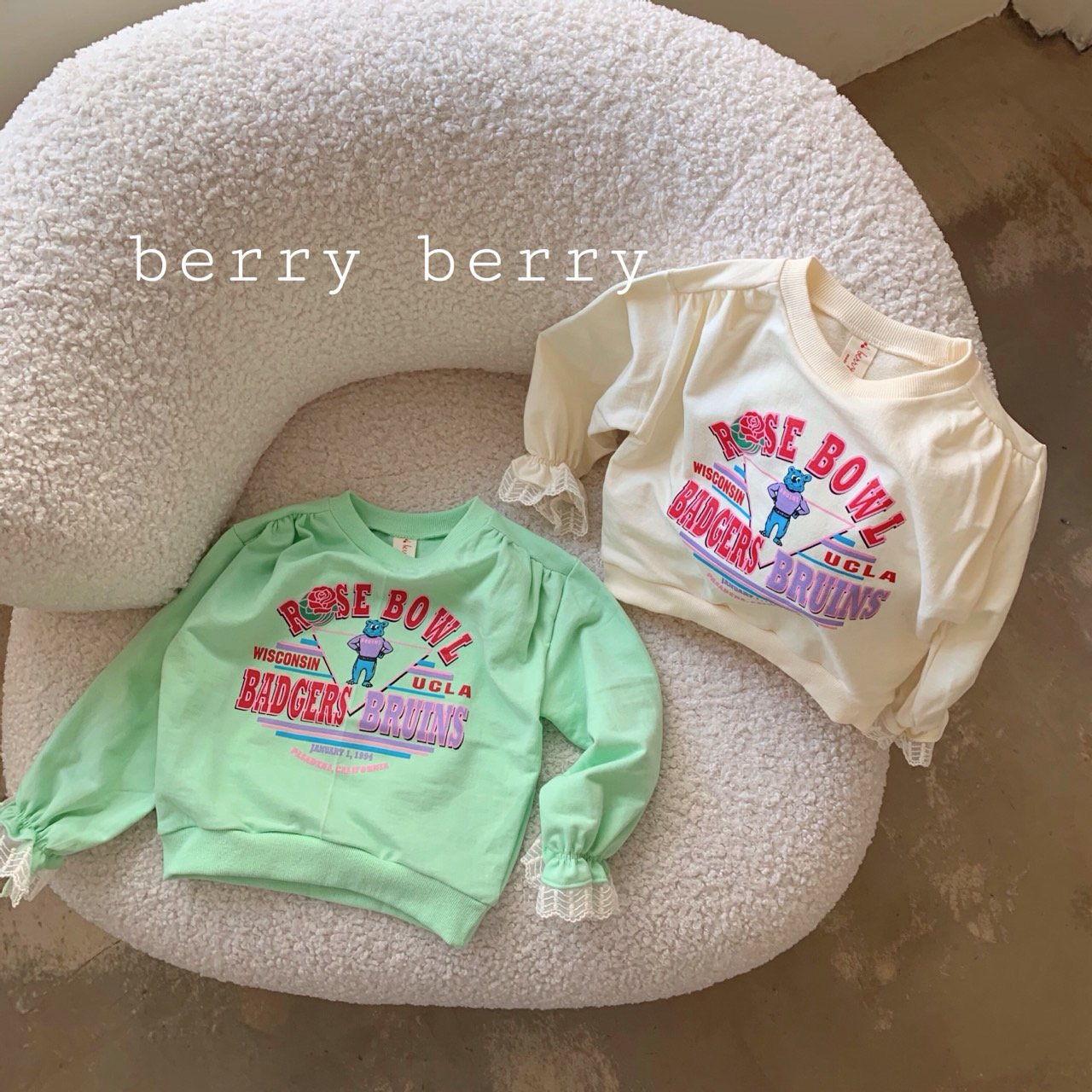 BERRY BERRY - BRAND - Korean Children Fashion - #Kfashion4kids - Rose Sweatshirt