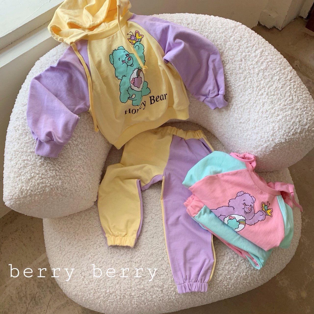 BERRY BERRY - BRAND - Korean Children Fashion - #Kfashion4kids - Honey Jam Top Bottom Set