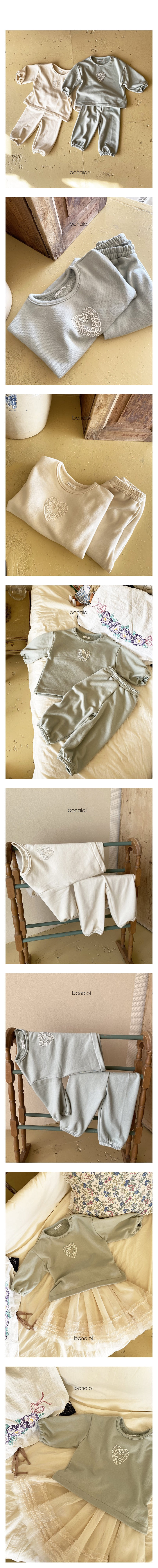 BONALOI - Korean Children Fashion - #Kfashion4kids - Motive Top Bottom Set