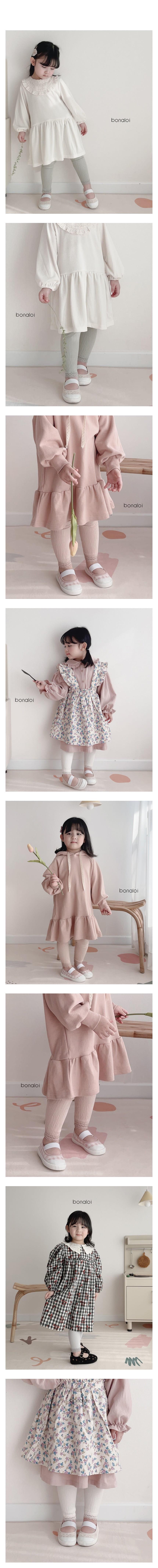 BONALOI - Korean Children Fashion - #Kfashion4kids - Wrinkle Lace Leggings