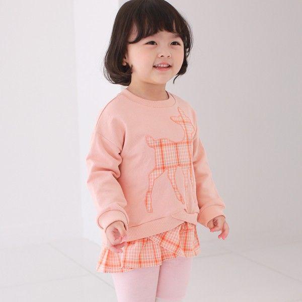 COCO RABBIT - BRAND - Korean Children Fashion - #Kfashion4kids - Bambi Double Sweatshirt