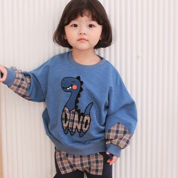 COCO RABBIT - BRAND - Korean Children Fashion - #Kfashion4kids - Sleeve Dinosaur Sweatshirt