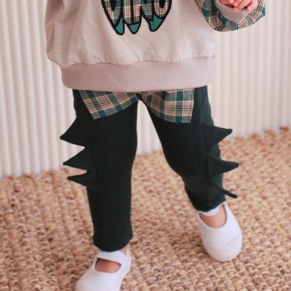 COCO RABBIT - BRAND - Korean Children Fashion - #Kfashion4kids - Check Dinosaur Pants