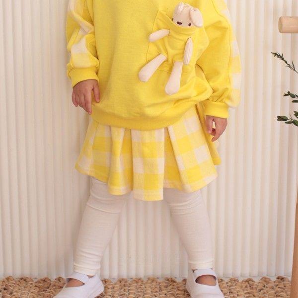 COCO RABBIT - BRAND - Korean Children Fashion - #Kfashion4kids - Check Skirt Leggings