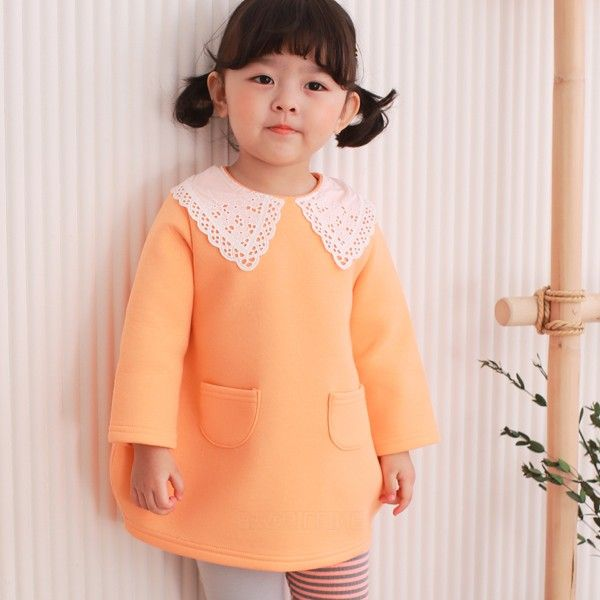 COCO RABBIT - BRAND - Korean Children Fashion - #Kfashion4kids - Lace Callor One-piece