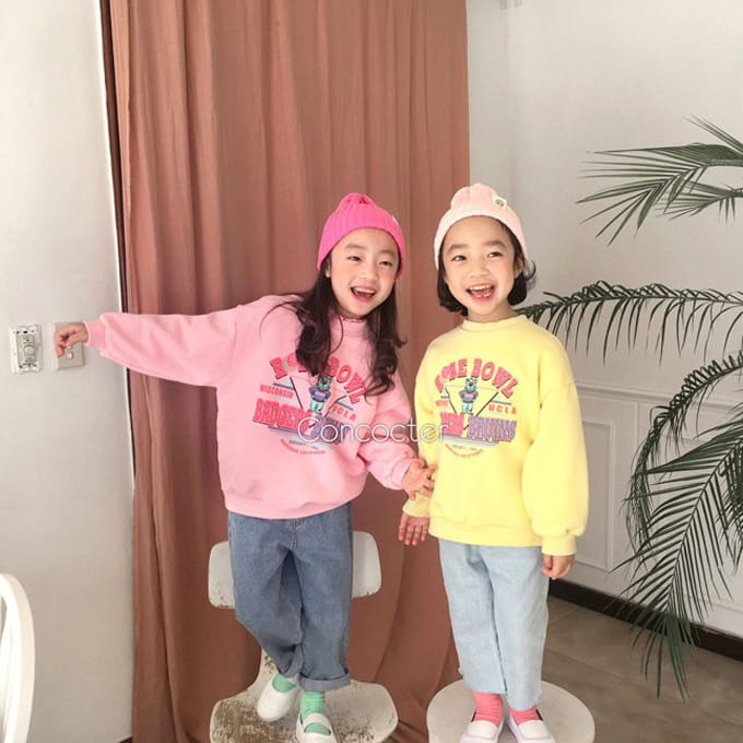 CONCOCTER - BRAND - Korean Children Fashion - #Kfashion4kids - Rose Bear Sweatshirt