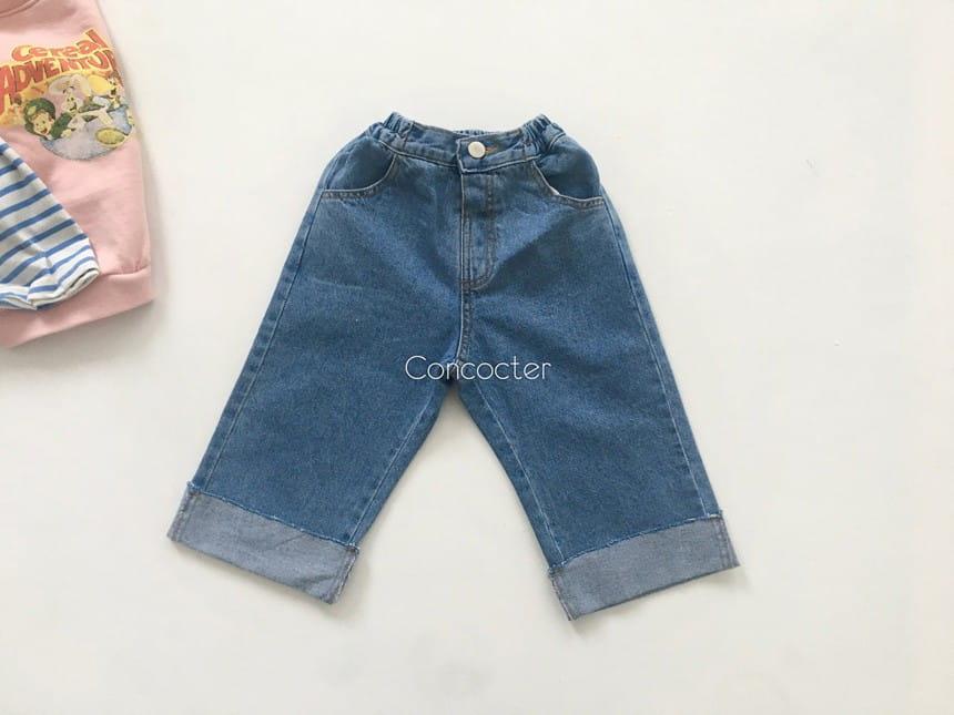 CONCOCTER - Korean Children Fashion - #Kfashion4kids - Roll-up Wide Jean