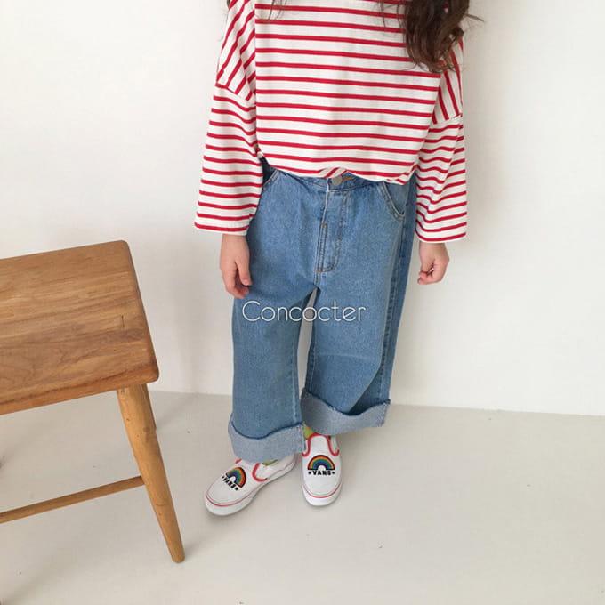 CONCOCTER - BRAND - Korean Children Fashion - #Kfashion4kids - Roll-up Wide Jean