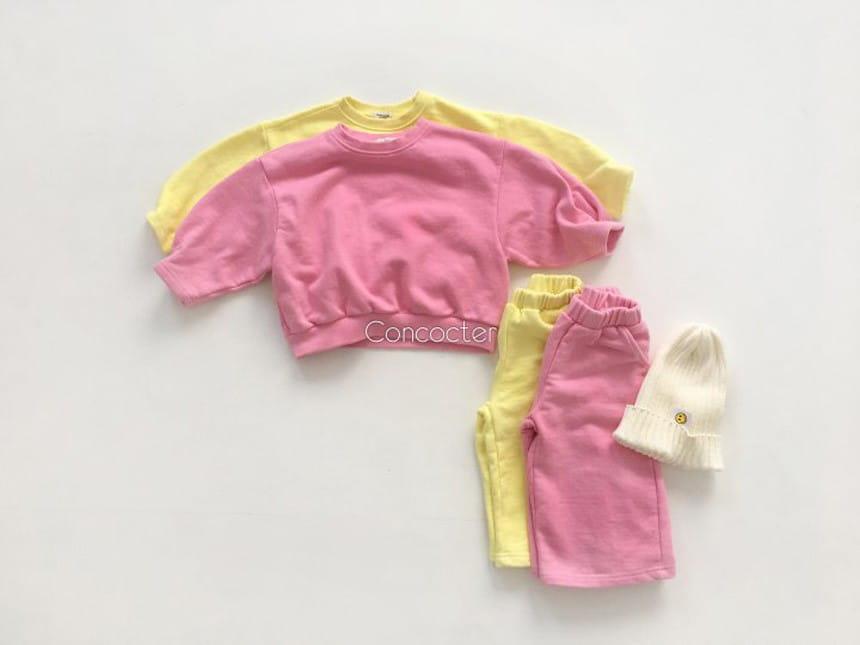 CONCOCTER - Korean Children Fashion - #Kfashion4kids - Sleeve Winkle Top Bottom Set