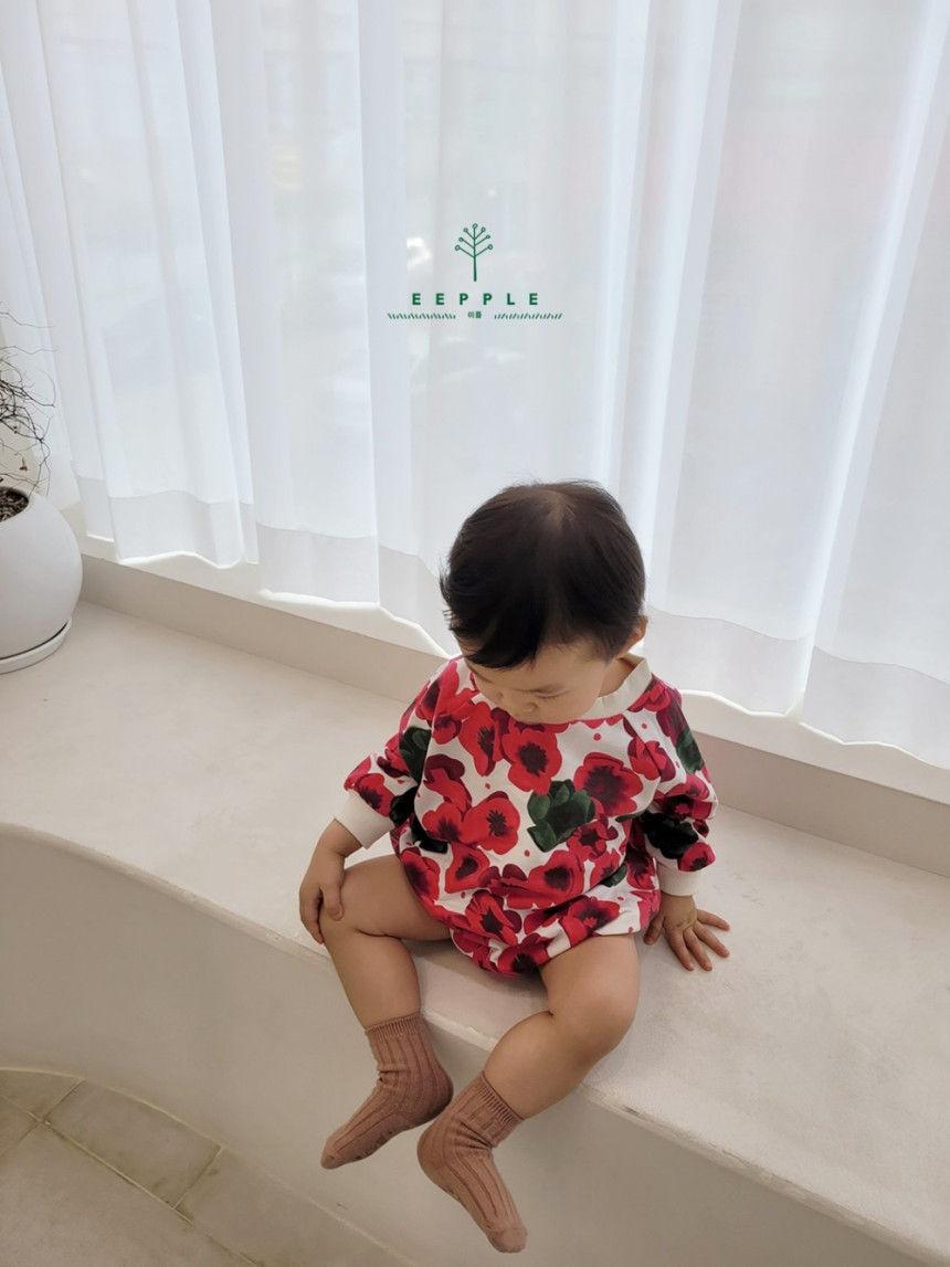 EEPPLE - Korean Children Fashion - #Kfashion4kids - Flower Sweatshirt Bodysuit