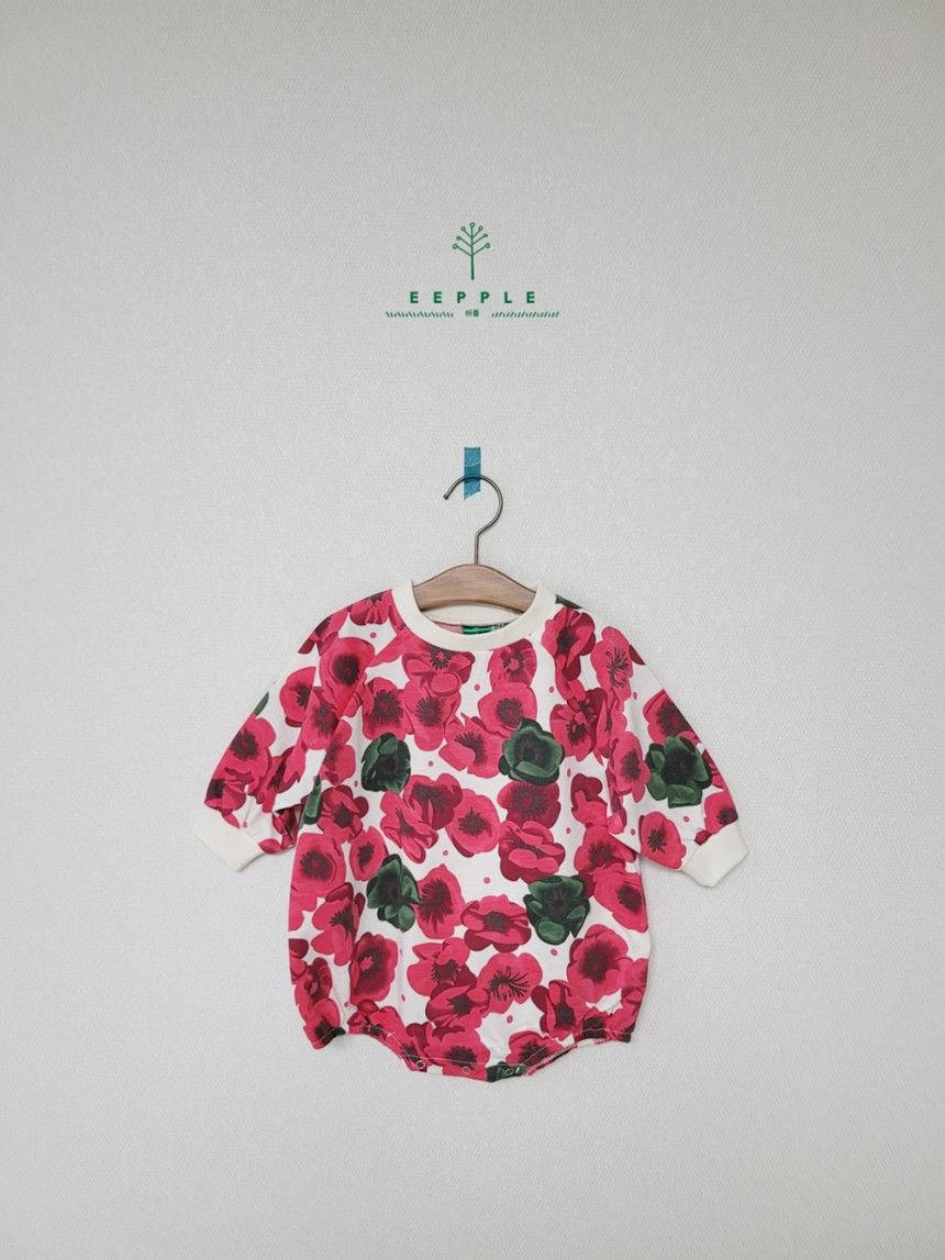 EEPPLE - Korean Children Fashion - #Kfashion4kids - Flower Sweatshirt Bodysuit - 2