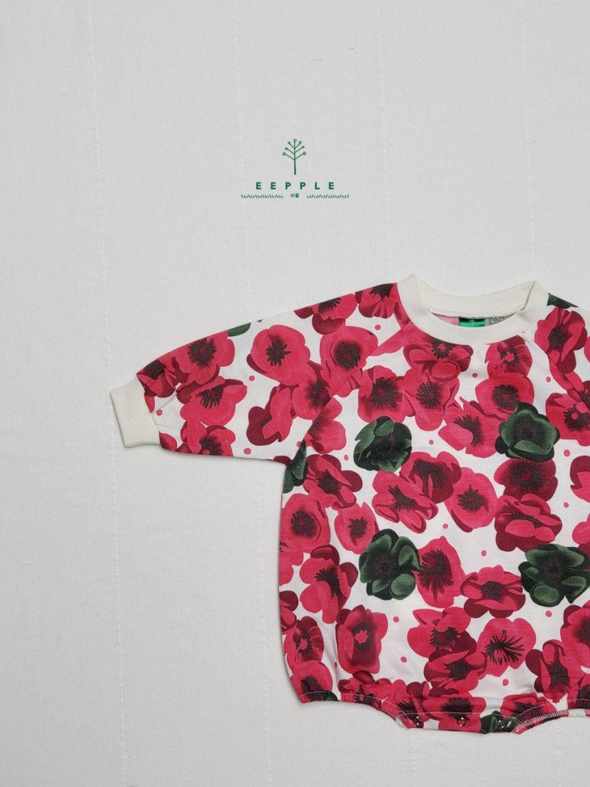 EEPPLE - Korean Children Fashion - #Kfashion4kids - Flower Sweatshirt Bodysuit - 3