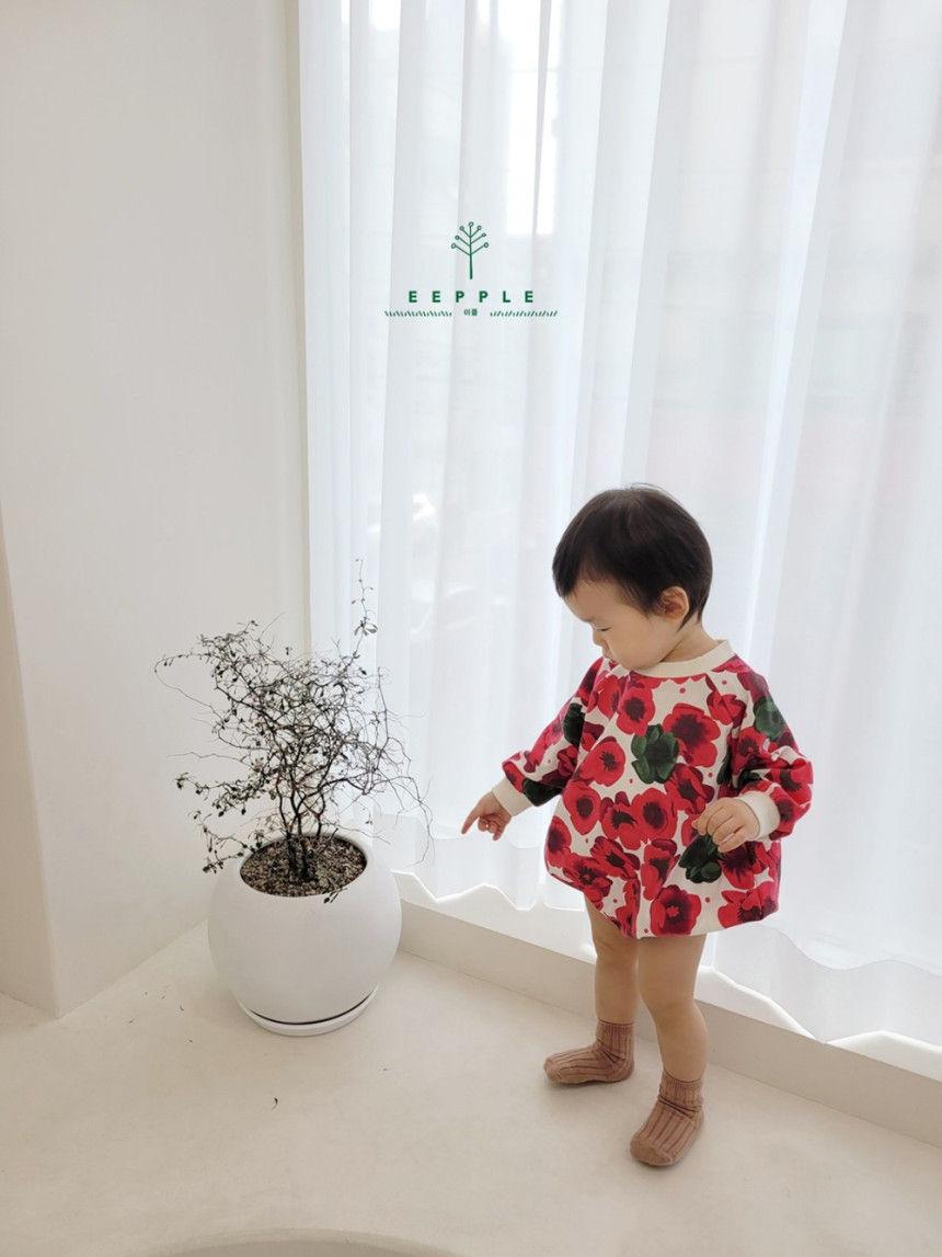 EEPPLE - Korean Children Fashion - #Kfashion4kids - Flower Sweatshirt Bodysuit - 4