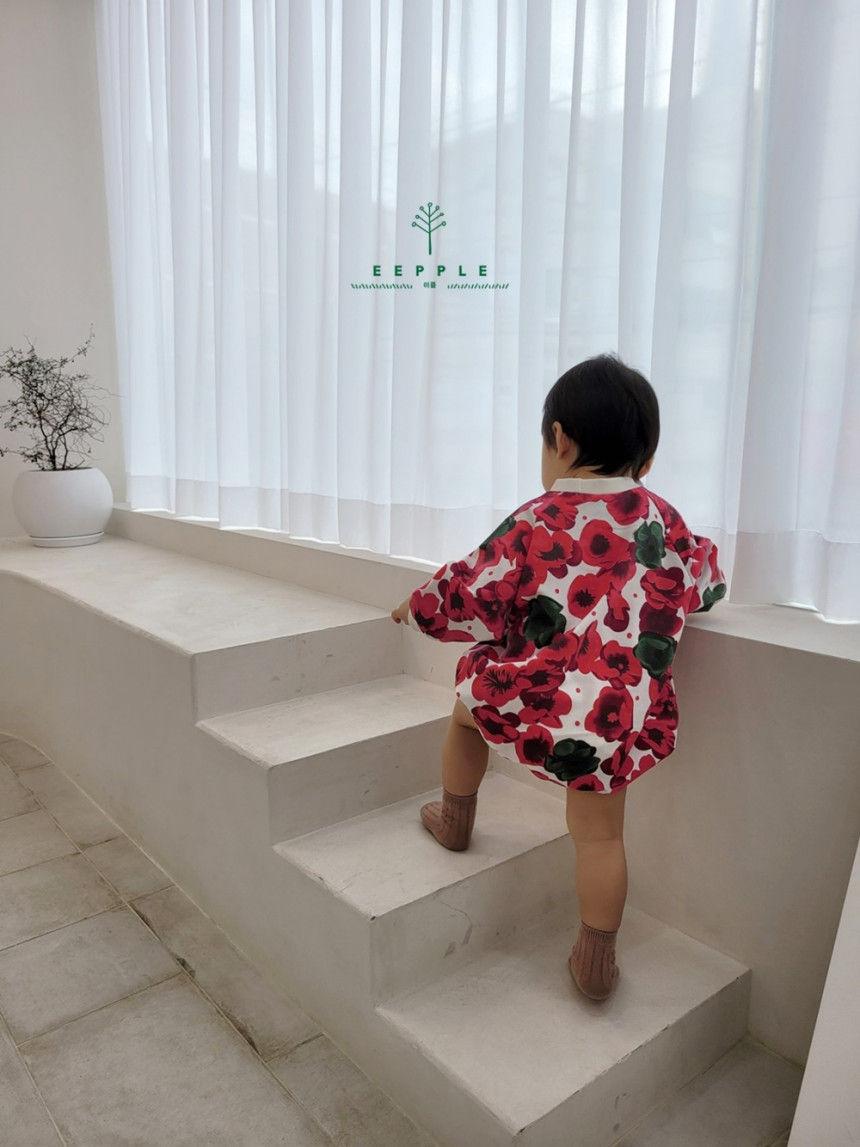 EEPPLE - Korean Children Fashion - #Kfashion4kids - Flower Sweatshirt Bodysuit - 5