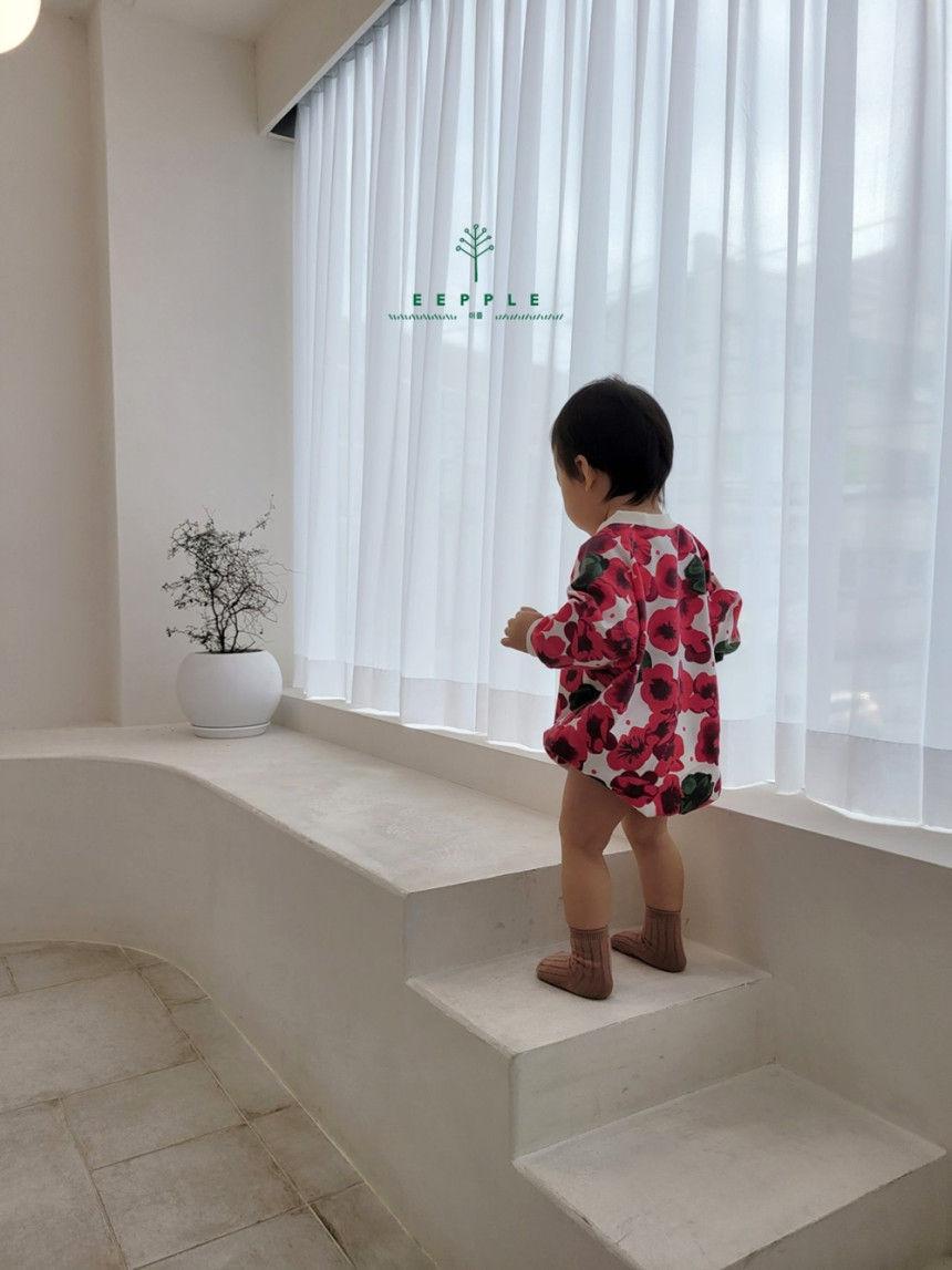 EEPPLE - Korean Children Fashion - #Kfashion4kids - Flower Sweatshirt Bodysuit - 6