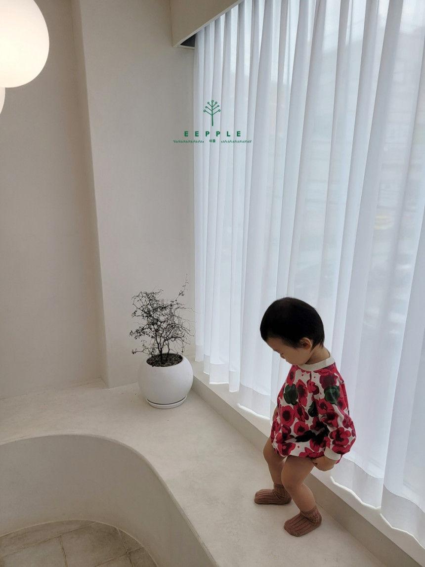 EEPPLE - Korean Children Fashion - #Kfashion4kids - Flower Sweatshirt Bodysuit - 7