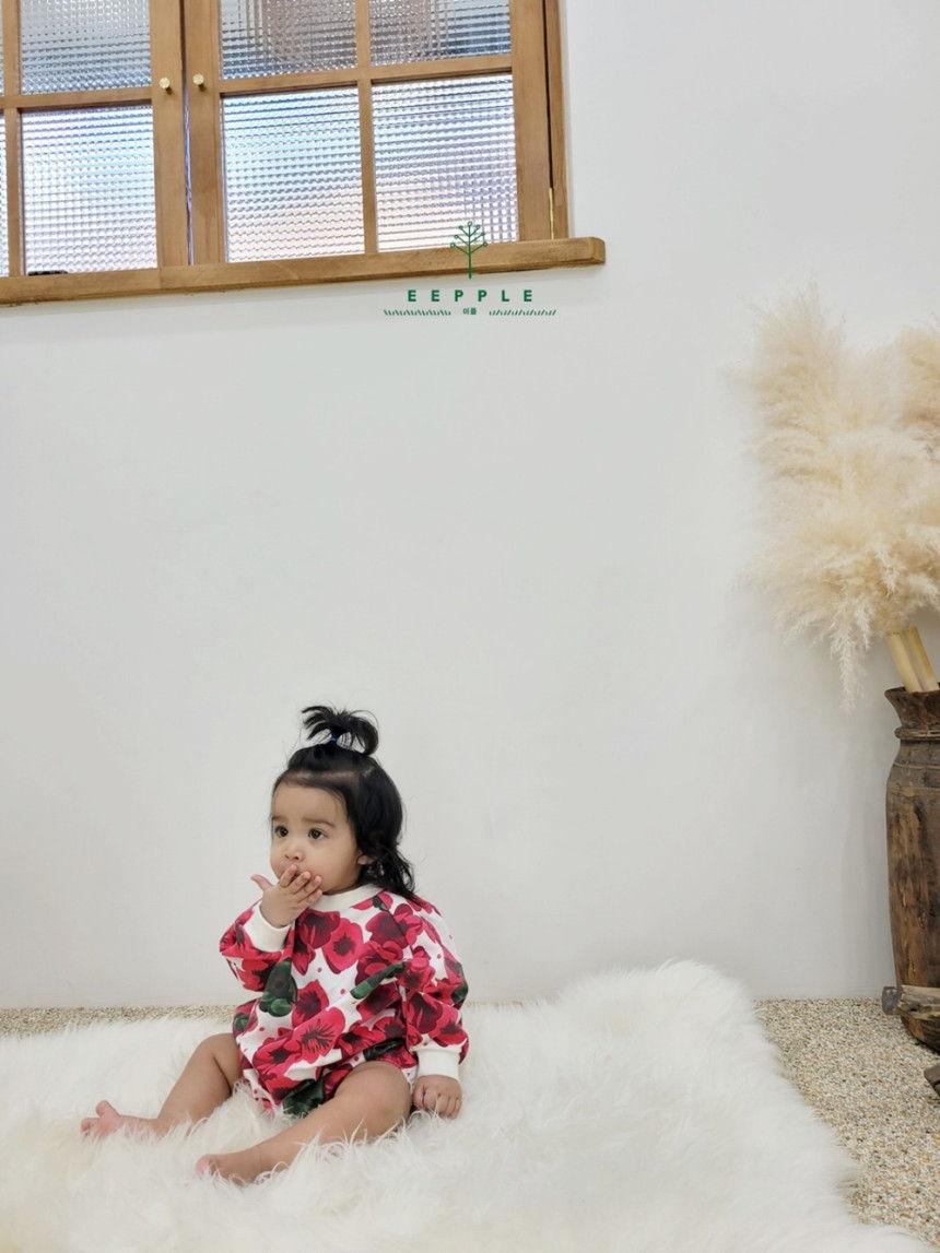 EEPPLE - Korean Children Fashion - #Kfashion4kids - Flower Sweatshirt Bodysuit - 9