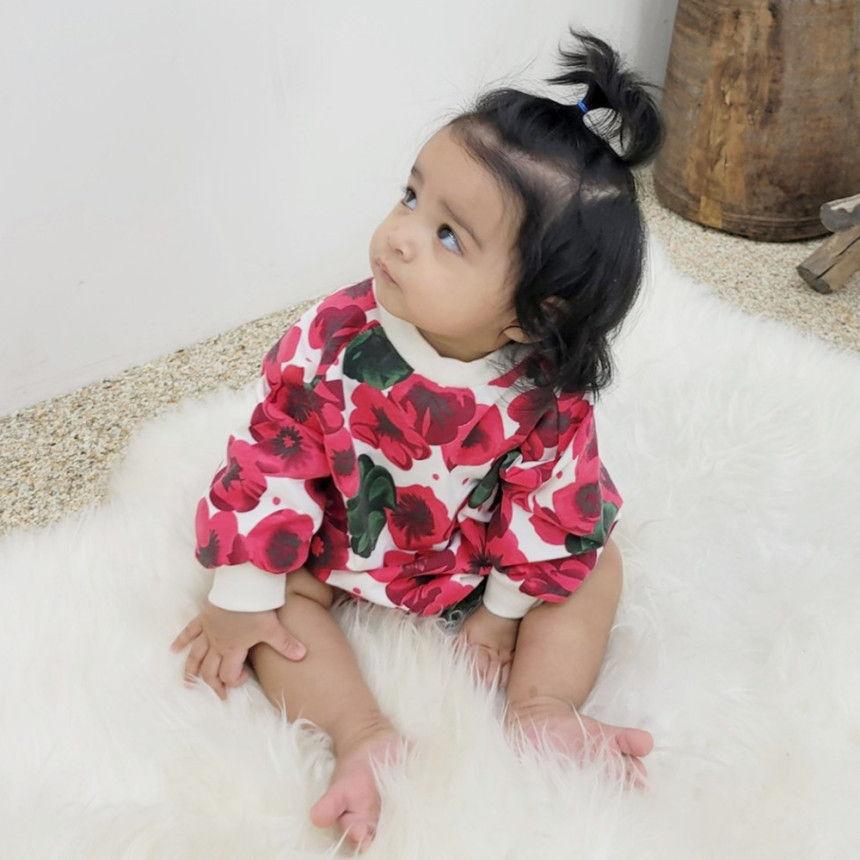 EEPPLE - BRAND - Korean Children Fashion - #Kfashion4kids - Flower Sweatshirt Bodysuit