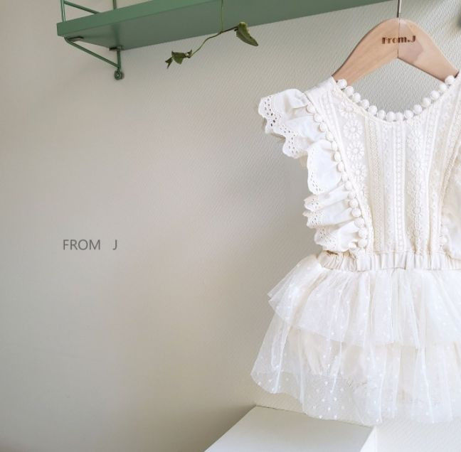 FROM J - Korean Children Fashion - #Kfashion4kids - Cancan Lace Suspender Bodysuit - 4