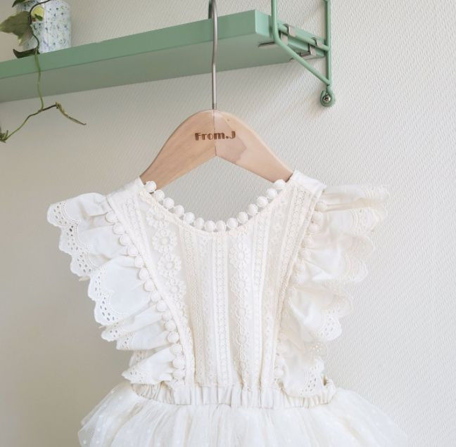 FROM J - Korean Children Fashion - #Kfashion4kids - Cancan Lace Suspender Bodysuit - 5