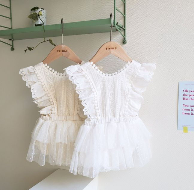 FROM J - BRAND - Korean Children Fashion - #Kfashion4kids - Cancan Lace Suspender Bodysuit