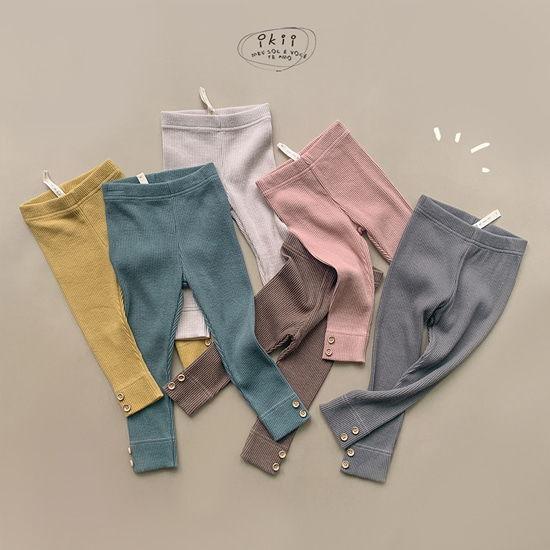 IKII - BRAND - Korean Children Fashion - #Kfashion4kids - Soul Button Leggings