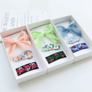 JIREH BOW - BRAND - Korean Children Fashion - #Kfashion4kids - Milton Drop Pin [set of 3]