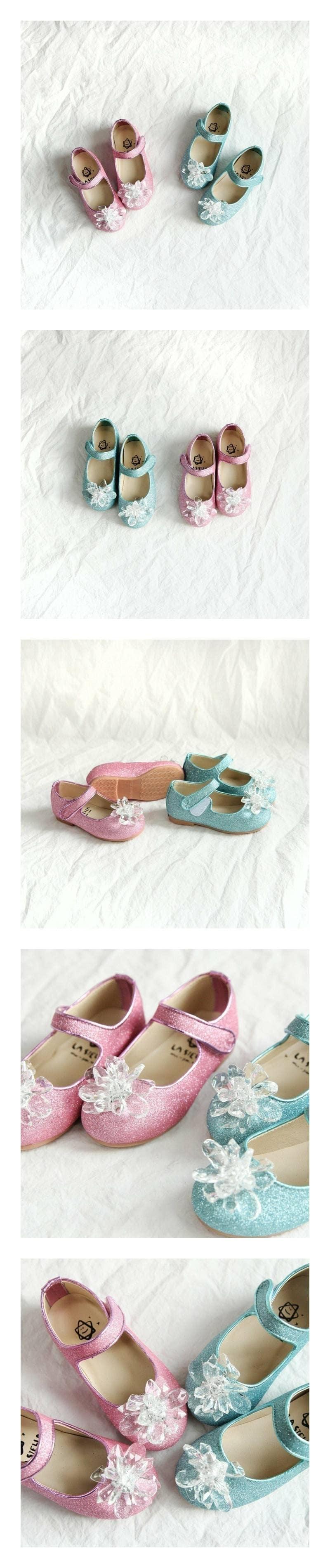 LA STELLA - Korean Children Fashion - #Kfashion4kids - Ell Princess Crystal Flats