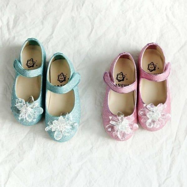 LA STELLA - BRAND - Korean Children Fashion - #Kfashion4kids - Ell Princess Crystal Flats