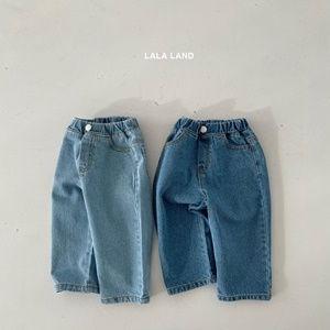 LALALAND - BRAND - Korean Children Fashion - #Kfashion4kids - Straight Denim Pants