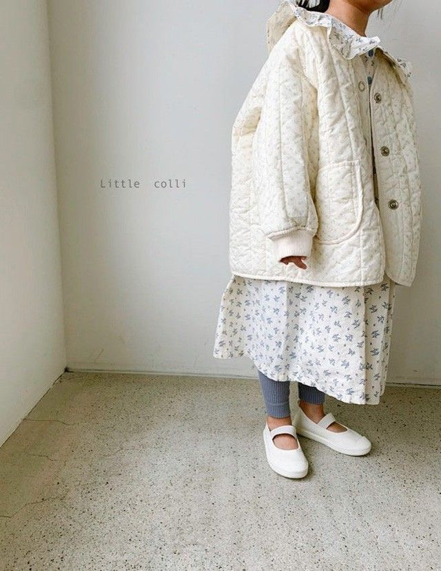 LITTLE COLLI - Korean Children Fashion - #Kfashion4kids - Spring Quilting Jumper